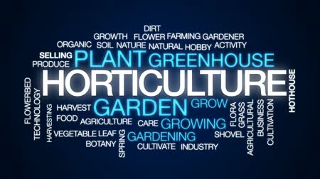 bahçıvan : Horticulture animated word cloud, text design animation.