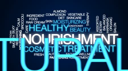 mimos : Nourishment animated word cloud, text design animation.