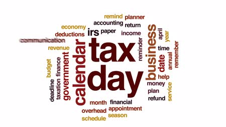 imposto : Tax day animated word cloud, text design animation.
