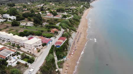 Here we have stunning aerial 4k Footage of St George South in Corfu Greece Wideo