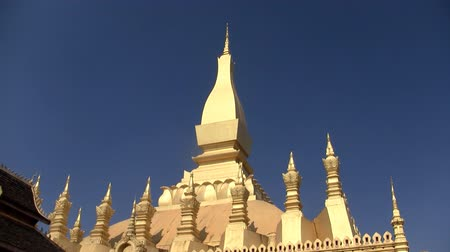 vientiane : Zoom in of Pha That Luang temple in Vientiane Laos