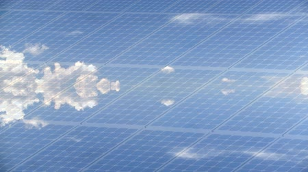 панель : Photovoltaic panel timelapse with clouds