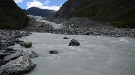 icy : Footage Fox glacier, South island New Zealand.