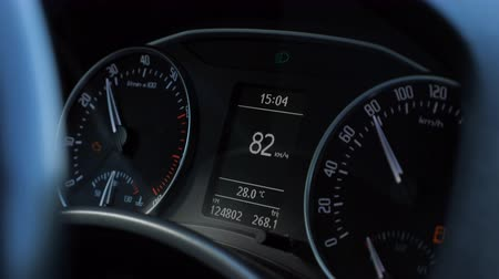 kilometer : speedometer of a car at cruising speed of 80 kmh.