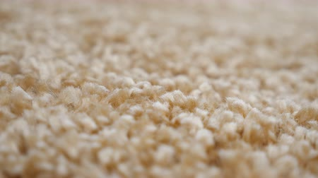 color swatch : close up of beige carpet fabric pattern macro texture background