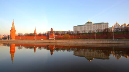 moskwa : Russia, Moscow, type to the Moscow Kremlin and the river  Wideo