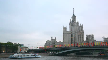 stalinist : tourist ship we melt by the high-rise building on Kotelnicheskaya Embankment
