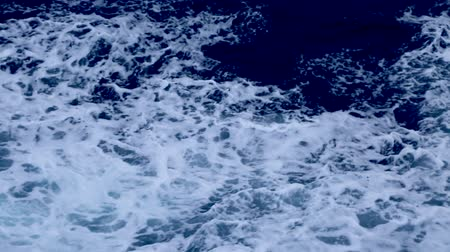 Rapid sea while sailing ship. Dramatic and picturesque scene. Artistic HD movie. Beauty world. Stock Footage