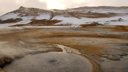 geyser iceland : hverarond thermal under world make hot lake stream