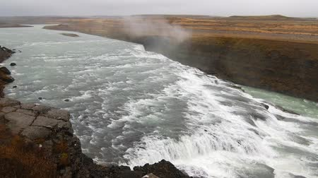 gullfoss : Gullfoss biggest waterfall in iceland.