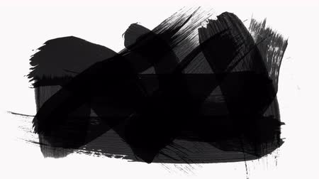 Frame - Abstract Paint Brush Strokes Transition Reveal with Alpha Channel