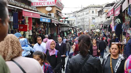 caravanserai : ISTANBUL, TURKEY - 8 OCTOBER, 2015: The streets of the old Grand Bazaar with stalls and people in Istanbul