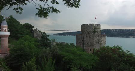 amfiteátr : Ancient Rumeli Fortress in Istanbul, on the shores of the Bosphorus Strait Dostupné videozáznamy