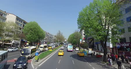 egemen : ISTANBUL, TURKEY - 7 APRL 2016: View the streets of Istanbul with a height of double decker bus: APRL 7, 2016 in Istanbul, Turkey