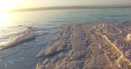 dead valley : Dead Sea salt deposits stones white crystals