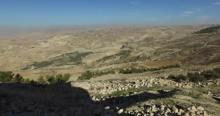 jordan : Panoramic view of Mount Nebo on the land of promise