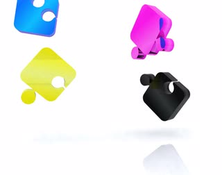 pé : Puzzle with the basic colors of the graphics - 3D Vídeos