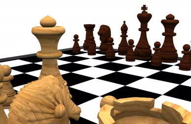 choosing path : 3D Chess - King against Queen  Stock Footage