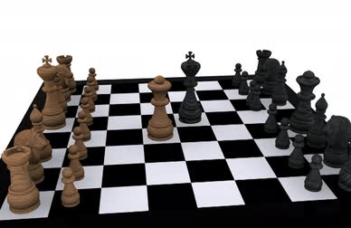 xadrez : 3D Chess - King against Queen  Vídeos