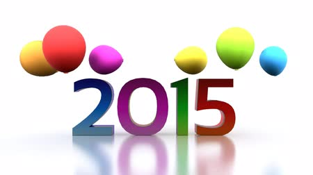 substituição : 3D animated video - comes the new year 2015