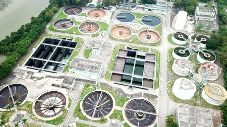 над : Top view of Sewage treatment plant