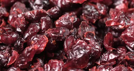 kızılcık : Pile of Dried cranberry in rotation