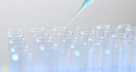 genetic research : Drop blue liquid in test tube