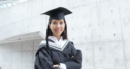 Young woman graduation in university