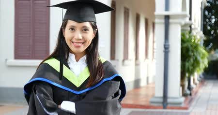 Confident woman get graduation