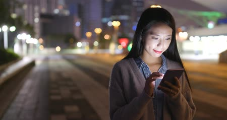 hong kong : Asian Woman using mobile phone