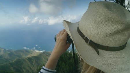 binocular : Trekking on the top of the volcano and review with binoculars