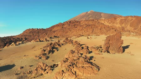 sahte : an extraterrestrial landscape in the area around the crater of the volcano Teide Tenerife