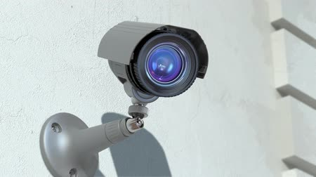 bezpieczeństwo : wondered surveillance camera , loop-able 3d animation