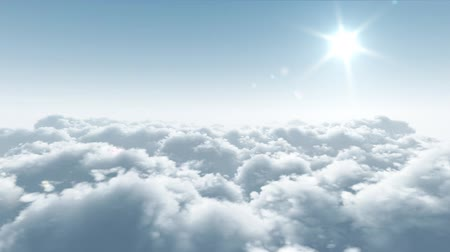 bohové : flight over clouds, loop-able 3d animation, hd