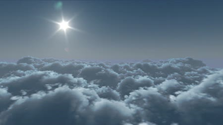 melek : twenty-four hours, flight over clouds.  loop-able 3d animation Stok Video