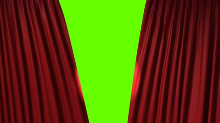 scena : Opening red curtain with spotlight
