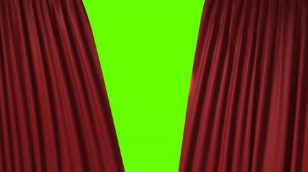 scena : red curtain with spotlight heart shape