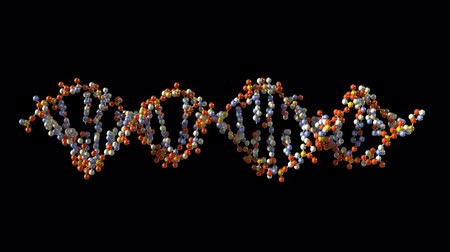 ДНК : Turning DNA, loop-able 3d animation with alpha