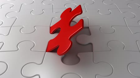 jigsaw : Final puzzle piece falls into place, 3d animation