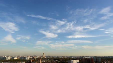 moskwa : City and sky, time-lapse Wideo