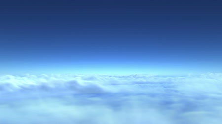 céu : flight over clouds, loop-able 3d animation (version without sun)