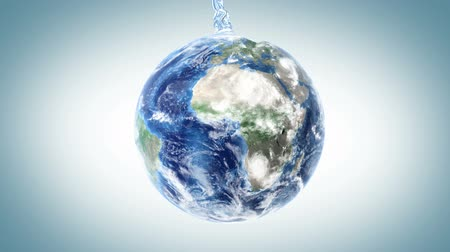 enchimento : water fills the Earth, 3d animation