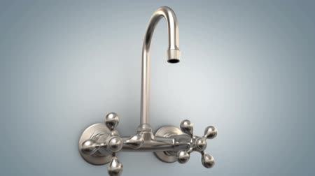 кризис : Faucet with no water, 3d animation