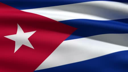 bandeira : Cuban flag, 3d animation. perfect seamless loop Vídeos