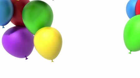 forma tridimensional : Flying balloons, 3d animation, alpha included