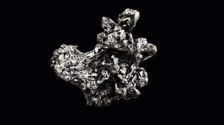 srebro :   the Silver nugget, seamless loop 3d animation with alpha matte   Wideo