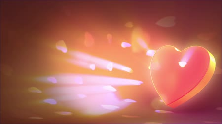 szív alakú : Valentines day background, beautiful 3d animation, loop