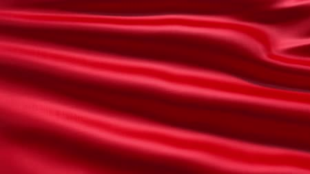 red background : Slowly waving red fabric background, seamless looped 3d animation
