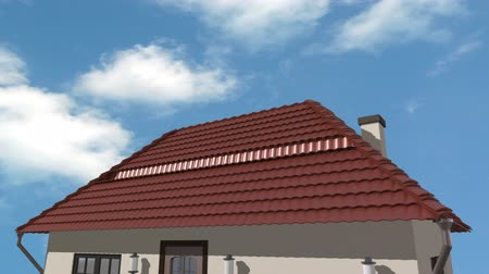 панель : solar panels, sky, sun and three 3d animations in one