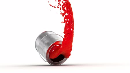 boyalar : falling paint can, made in slow motion 3d animation